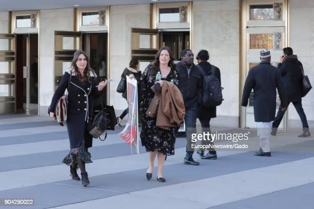 Full length portrait of singersongwriter Sara Beth Bareilles at the United Nations headquarters in New York City New York November 17 2017