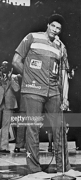 A full length portrait of Wes Unseld basketball player for the Baltimore Bullets 1969