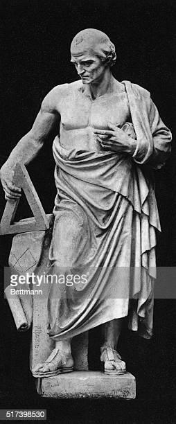 Full length statue of Pythagoras Undated photograph