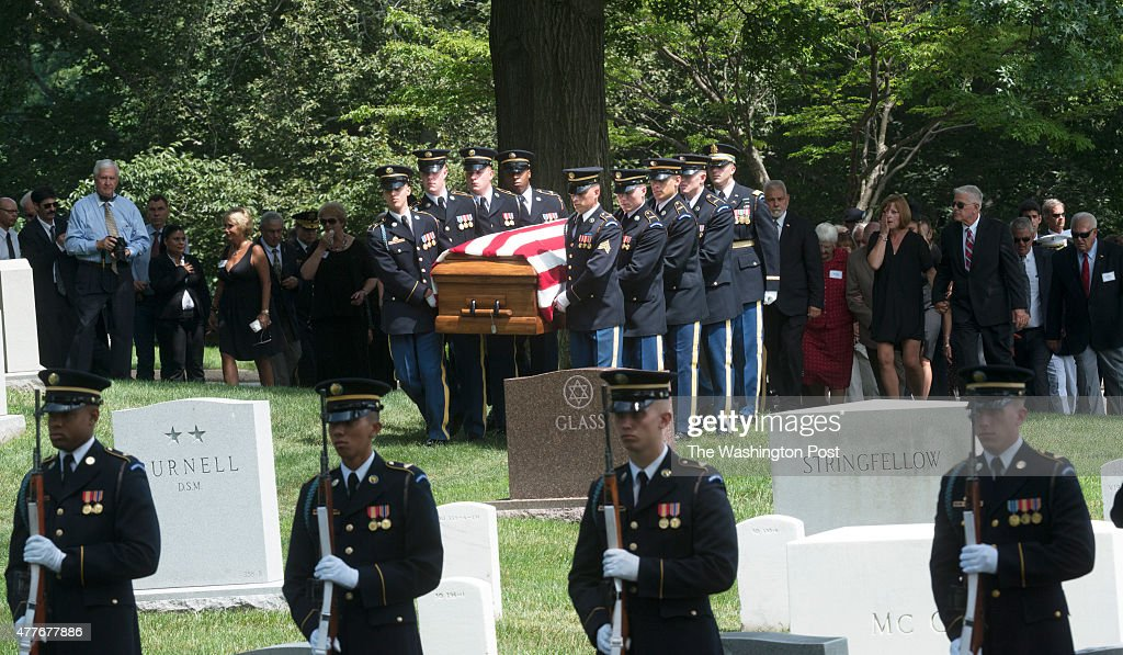 Burial service for  U.S. Army Air Forces 2nd Lt. John W. Herb : News Photo