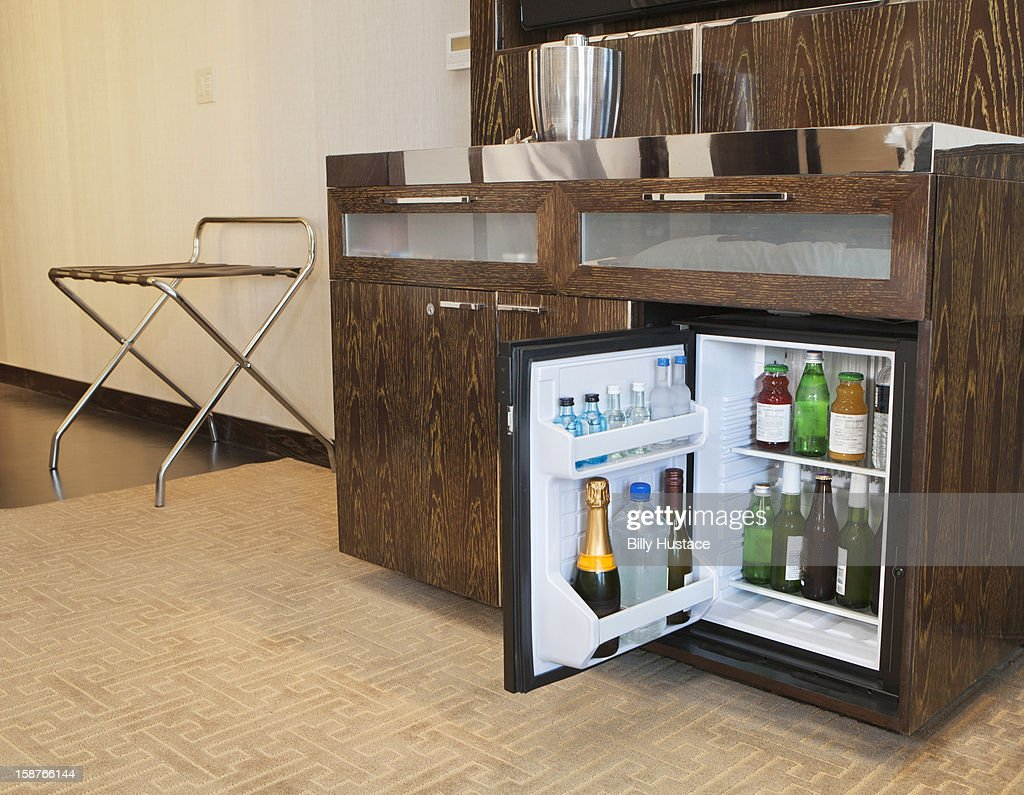 A Full Mini Bar In A Hotel Room Stock Photo Getty Images