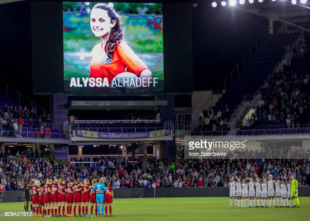 A full minute of silence for the students lives lost in south florida during the SheBelieves Cup between United States and England on March 7th 2017...