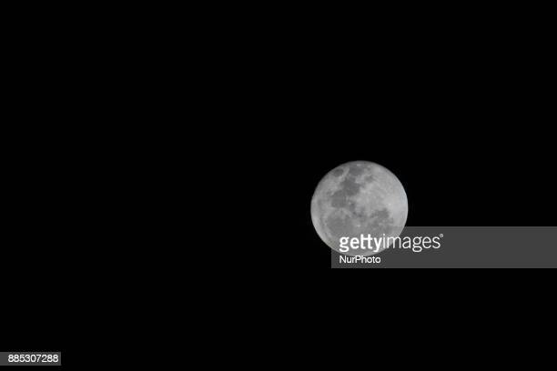 Full moon as seen on 4 December 2017 at the sky in South Tangerang Indonesia A full moon is the lunar phase that occurs when the Moon is completely...