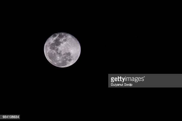 full moon close up - werewolf stock photos and pictures