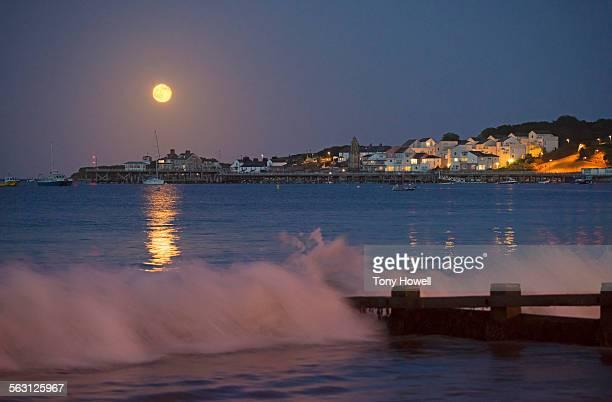 Full Moon, Dusk, Swanage