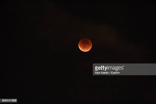 Full Moon In Sky During Lunar Eclipse