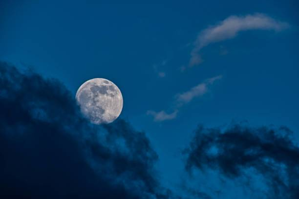 Full moon in sky,Colmar,France