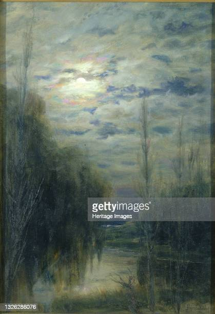 Full Moon, Limache, Chile, late 19th-early 20th century. Artist Alfredo Helsby.