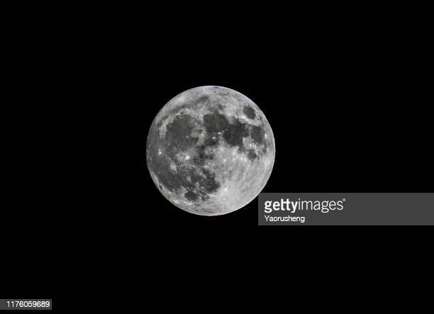 full moon on black sky - moon stock pictures, royalty-free photos & images