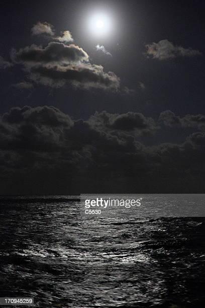 Full moon on the ocean