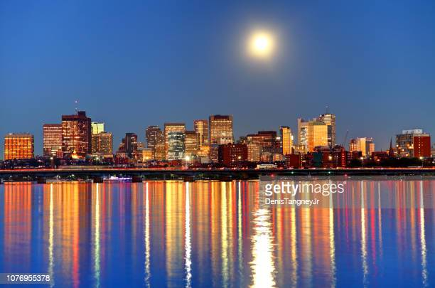 Full Moon over Downtown Boston