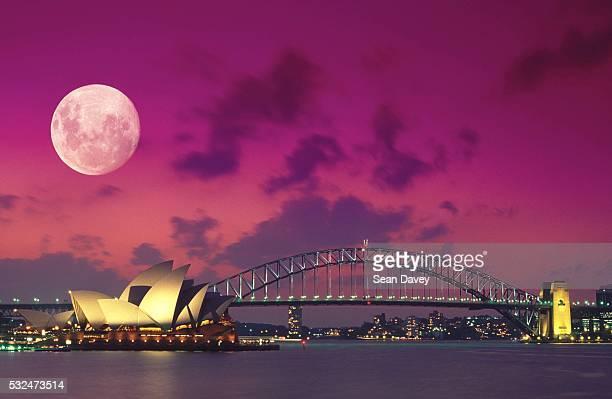 Full Moon Over Sydney Harbour