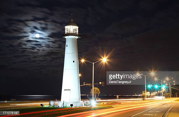Full Moon over the Biloxi Lighthouse