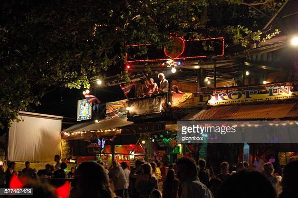 Full moon party scene in Haad Rin, Koh Phangan