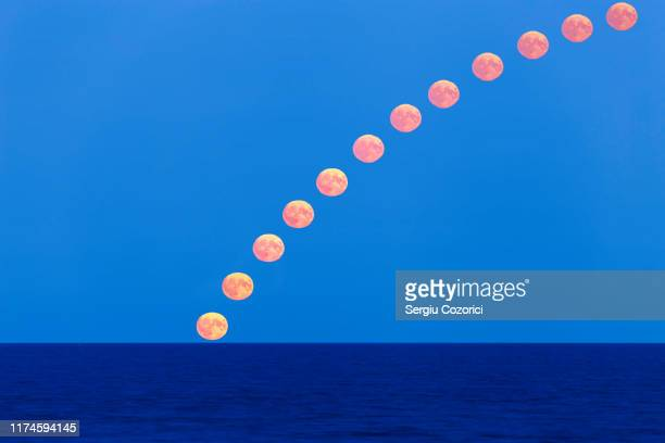 full moon path - zoom in stock photos and pictures