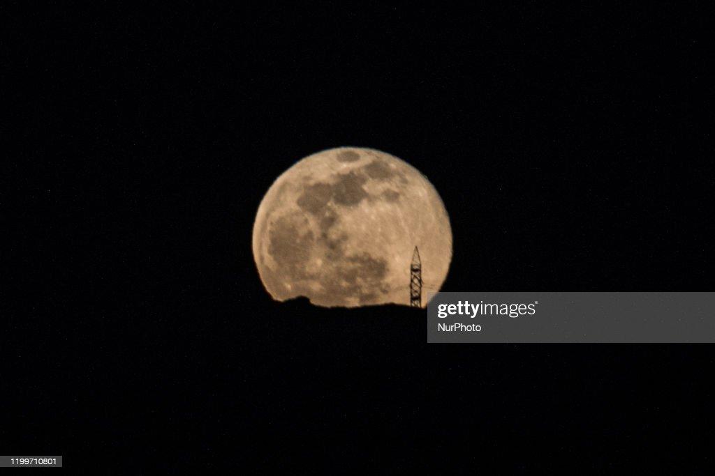 Full Moon In Greece : News Photo