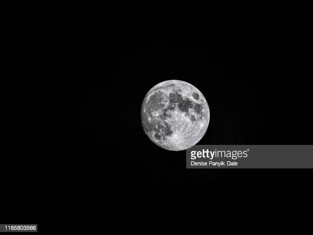 full moon with crater details - panyik-dale stock photos and pictures