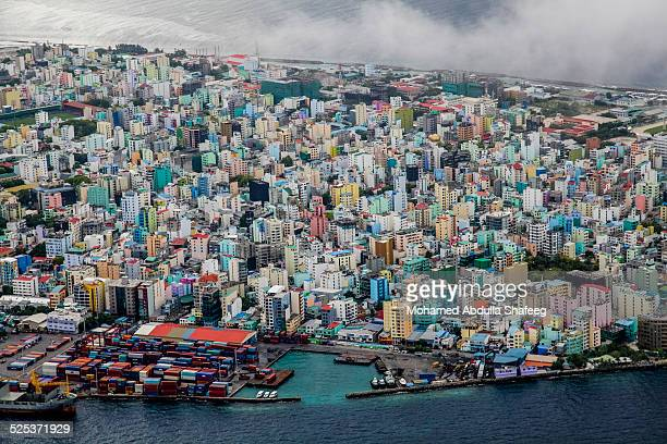 full of buildings - male maldives stock pictures, royalty-free photos & images