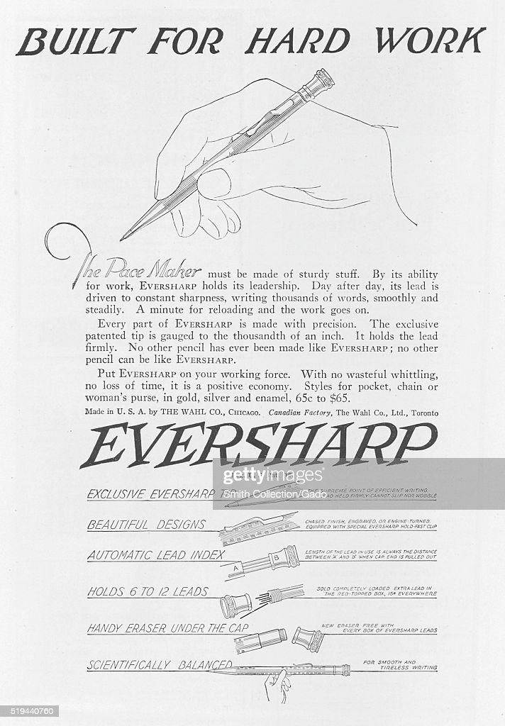 https www gettyimages com detail news photo full page advertisement for a mechanical pencil called the news photo 519440760