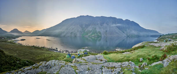 A full panoramic of Wastwater in the Lake District