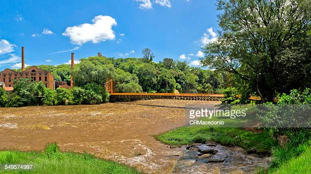 full piracicaba river - crmacedonio stock-fotos und bilder