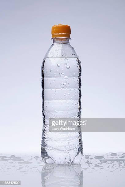 A full plastic water bottle