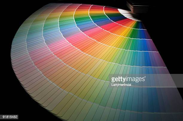 Full Rainbow of Paint Color Chart Fan Deck