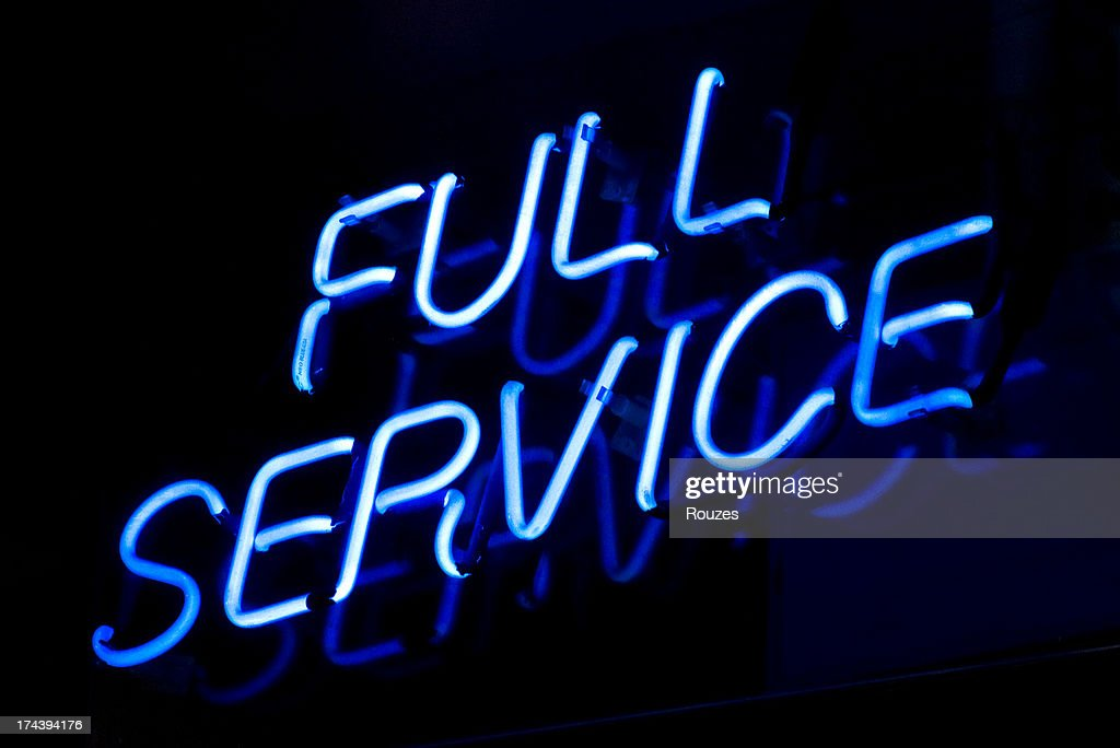 Full Service Sign : Stock Photo