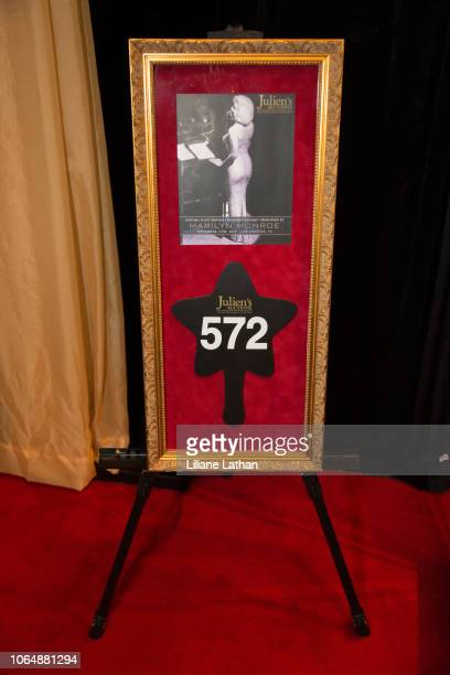 Full Shot of the Auction House that sold Marilyn Monroe's Historic Dress at the Unveiling of Marilyn Monroe's Iconic 1962 'Happy Birthday Mr...