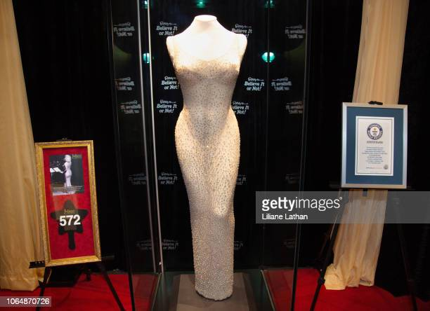 Full Shot of the Historic Happy Birthday President Kennedy Dress Worn By Marilyn Monroe at Ripley's Believe It Or Not on November 07 2018 in...