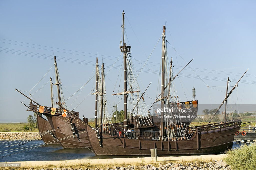 Full size replicas of Christopher Columbus' ships, the ...