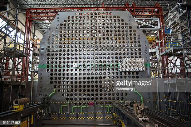 A full sized mock up of nuclear reactors are seen at the Darlington Nuclear generating station in Bowmanville Ontario Canada on Friday April 1 2016...