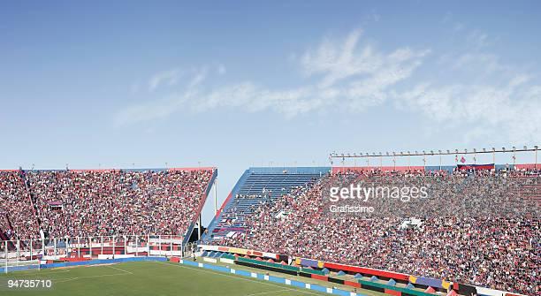 Full soccer stadium waiting for the start