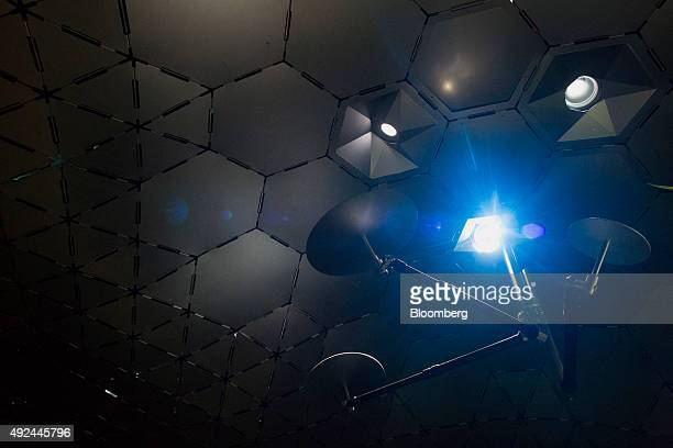 A full spectrum of light is filtered in from above the Lowline Lab in New York US on Monday Oct 12 2015 An underground park in New York City's Lower...