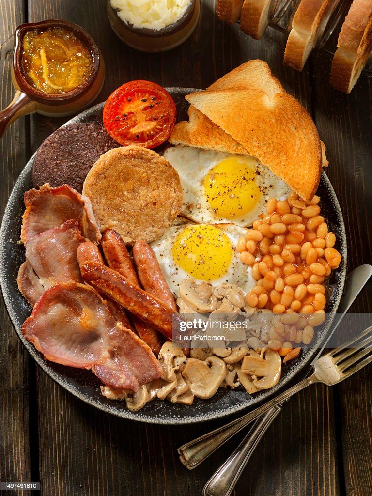 Full Traditional English Breakfast : Stock Photo