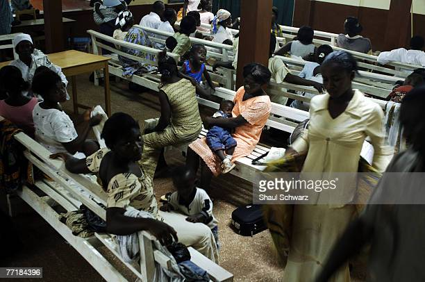 A full waiting room at the childre section child September 18 2007 in the Kintampo Health Center in Ghana Africa Candidates for drugs or vaccines...