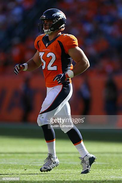 Fullback Andy Janovich of the Denver Broncos in action against the Indianapolis Colts at Sports Authority Field at Mile High on September 18 2016 in...