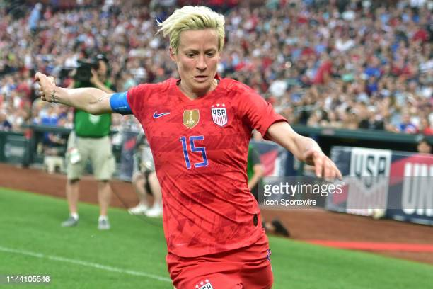 USA fullback Megan Rapinoe tries to keep the ballin bounds during a soccer game between the US Women's National Team and the New Zealand Women's...