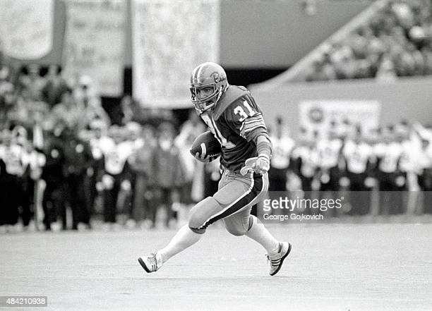 Fullback Wayne DiBartola of the University of Pittsburgh Panthers runs with the football during a college football game against the Penn State...