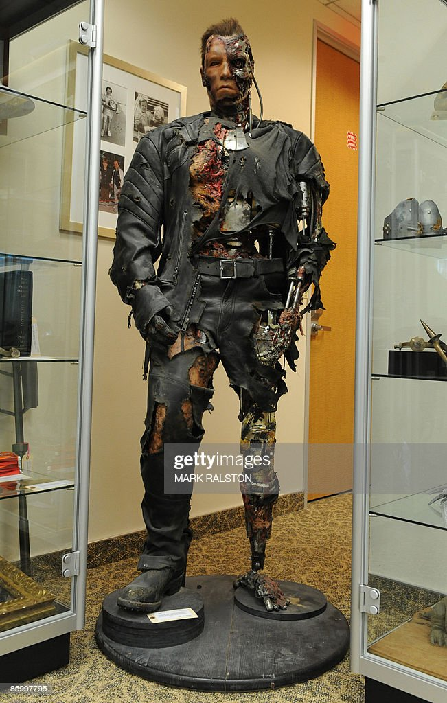 A full-body screen used Terminator from the movie