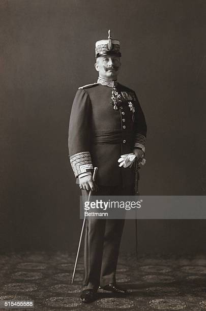 Fulllength portrait of Kaiser Wilhelm II of Germany in military uniform