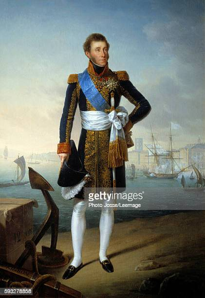 Fulllength portrait of Louis Antoine of France Duke of Angouleme Painting by Francois Joseph Kinson 19th century 209 x 145 m BeauxArts Museum...