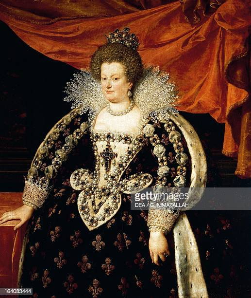 Fulllength portrait of Maria de Medici wife of Henry IV of France King of France Florence Palazzo Pitti