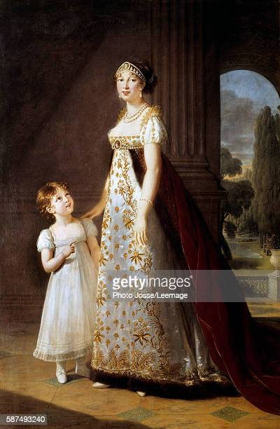 Fulllength portrait of Marie Annonciade Caroline Bonaparte Princess Murat with her daughter Letizia Painting by Marie Elisabeth Louise Vigee Le Brun...