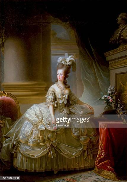Fulllength portrait of Marie Antoinette de Lorraine Habsburg Queen of France Painting by Marie Elisabeth Louise VigeeLebrun 18th century Vienna...