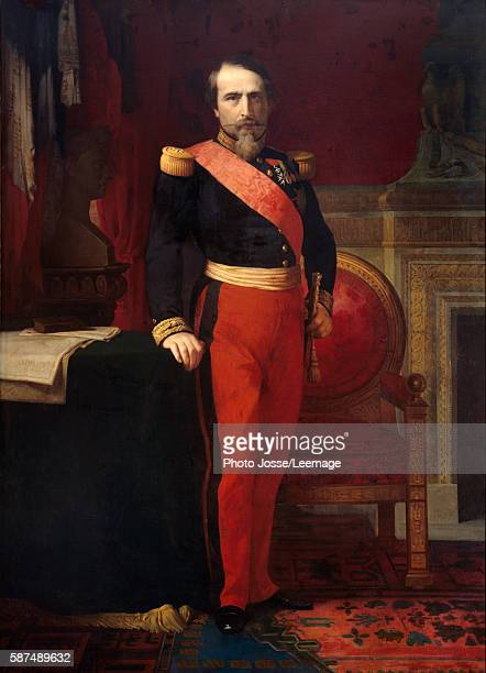 Fulllength portrait of Napoleon III Painting by Hippolithe Flandrin 1862 212 x 147 Castle of Compiegne Museum France