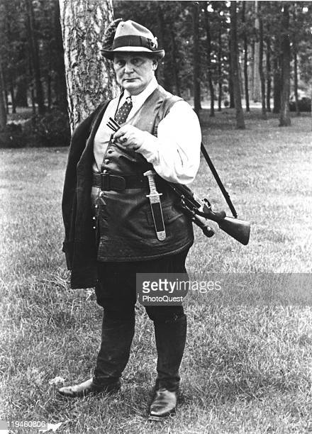 Full-length portrait of Nazi leader Hermann Goering on the grounds of his villa, Carinhall, Prussia, October 10, 1937.