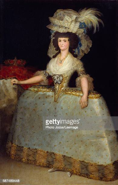 Fulllength portrait of Queen Maria Luisa de Parma wife of Charles IV Painting by Francisco de Goya 1828 Prado Museum Madrid