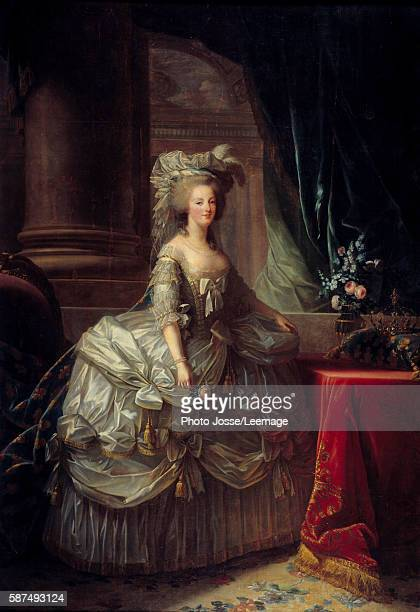 Fulllength portrait of Queen Marie Antoinette Painting by Marie Elisabeth Louise Vigee Le Brun 19th century Oil on canvas 276 x 193 m Castle Museum...