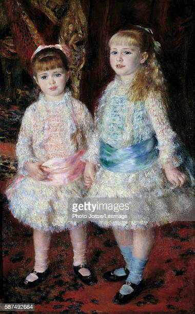 Fulllength portrait of the Demoiselles Cahen d'Anvers daughters of the banker Louis Cahen d'Anvers Painting by PierreAuguste Renoir 1881 074 x119 m...